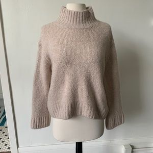 Blush Turtleneck Bell Sleeve Sweater
